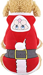 Isshe Christmas Pet Custome Warm Cat Dog Clothes Puppy Hoodie Dog Coat Sweater Jacket Pet Dress Up for Small Medium Large Dog Cat