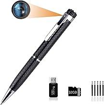$35 » Mini Hidden Spy Camera Pen with HD 1080P Video Recorder,Spy Gear Body Camera Portable Pocket Camera with 32GB SD Card, for...