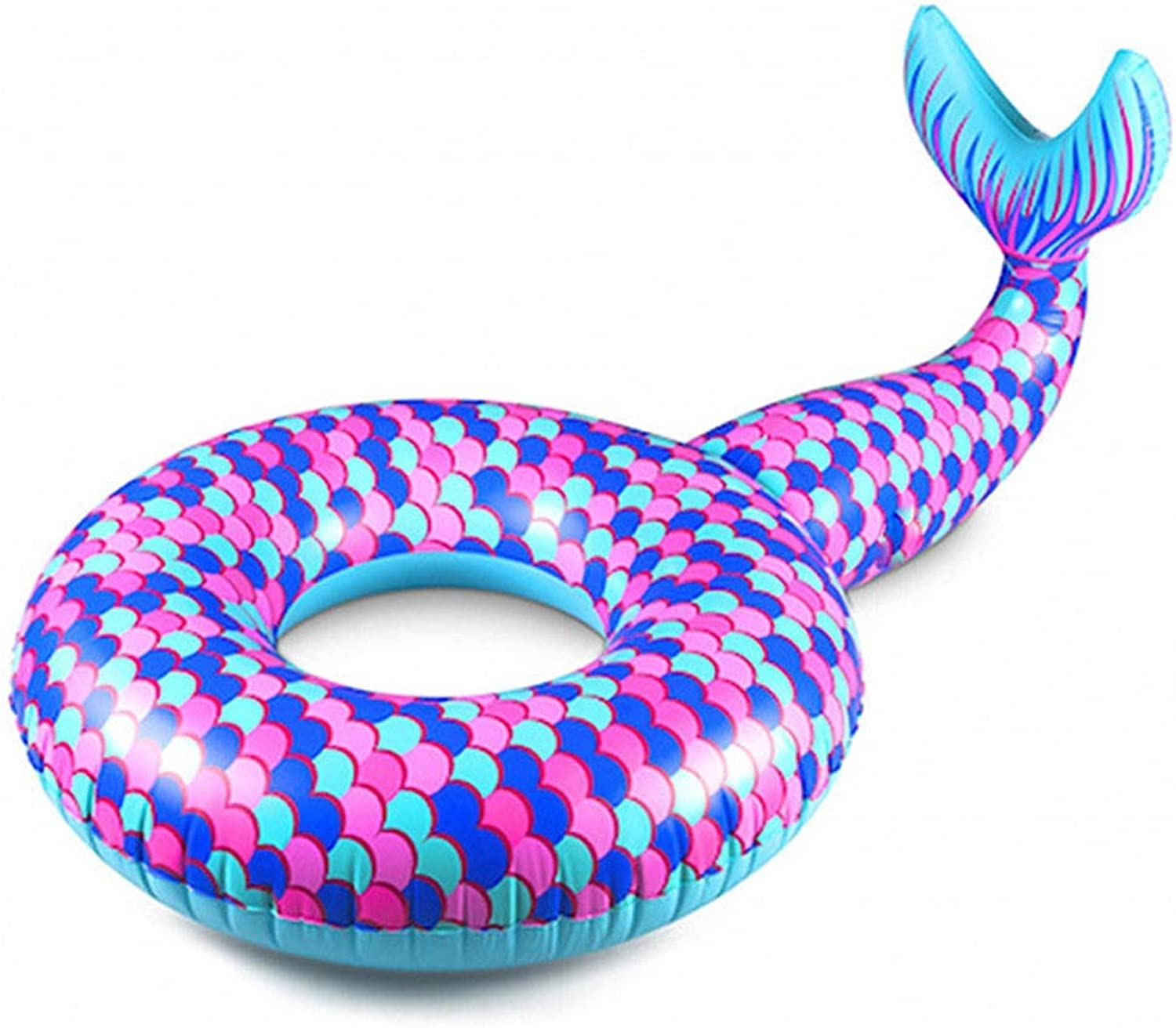 Giant Inflatable Pool Float,Swimming Water Float,Funny Inflatable Vinyl Summer Pool Or Beach Toy,Beach Floaties for Adults and Kids (Mermaid Tail)