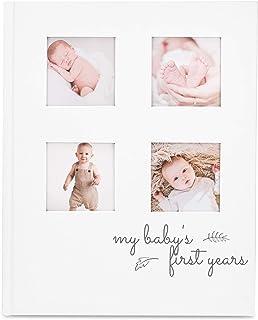 Baby First 5 Years Memory Book Journal ? Moderno minimalista tapa dura 66 páginas hito primer año recién nacido diario para niños, niñas ? toda la familia, LGBT, madre soltera papá, adoptive ? Marco de álbum de fotos