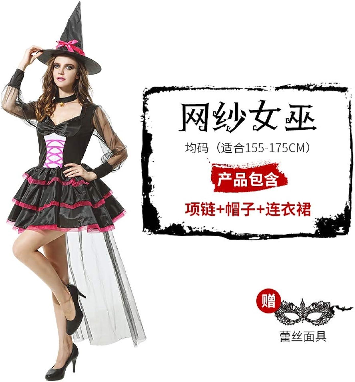 MYing Halloween-Kostüm Maskerade Cosplay Erwachsenen Hexe Anzug Anzug Hexe Knigin Kostüm Geist Braut Queen-13