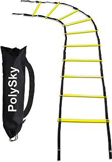 トレーニングラダー PolySky ラダー トレーニング 野球 サッカー 3m 5m 6m 10m 収納袋付き スピードラダー 瞬発力 敏捷性 アップ フットサル テニス 練習