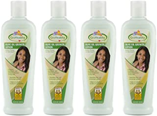 Hair Growth Lotion with Olive Oil Repairs, Rebuilds, Moisturizes and Promotes Growth for Soft, Healthy, Shiny, Longer, and Thicker Hair - Sofn'Free GroHealthy - Pack of 4