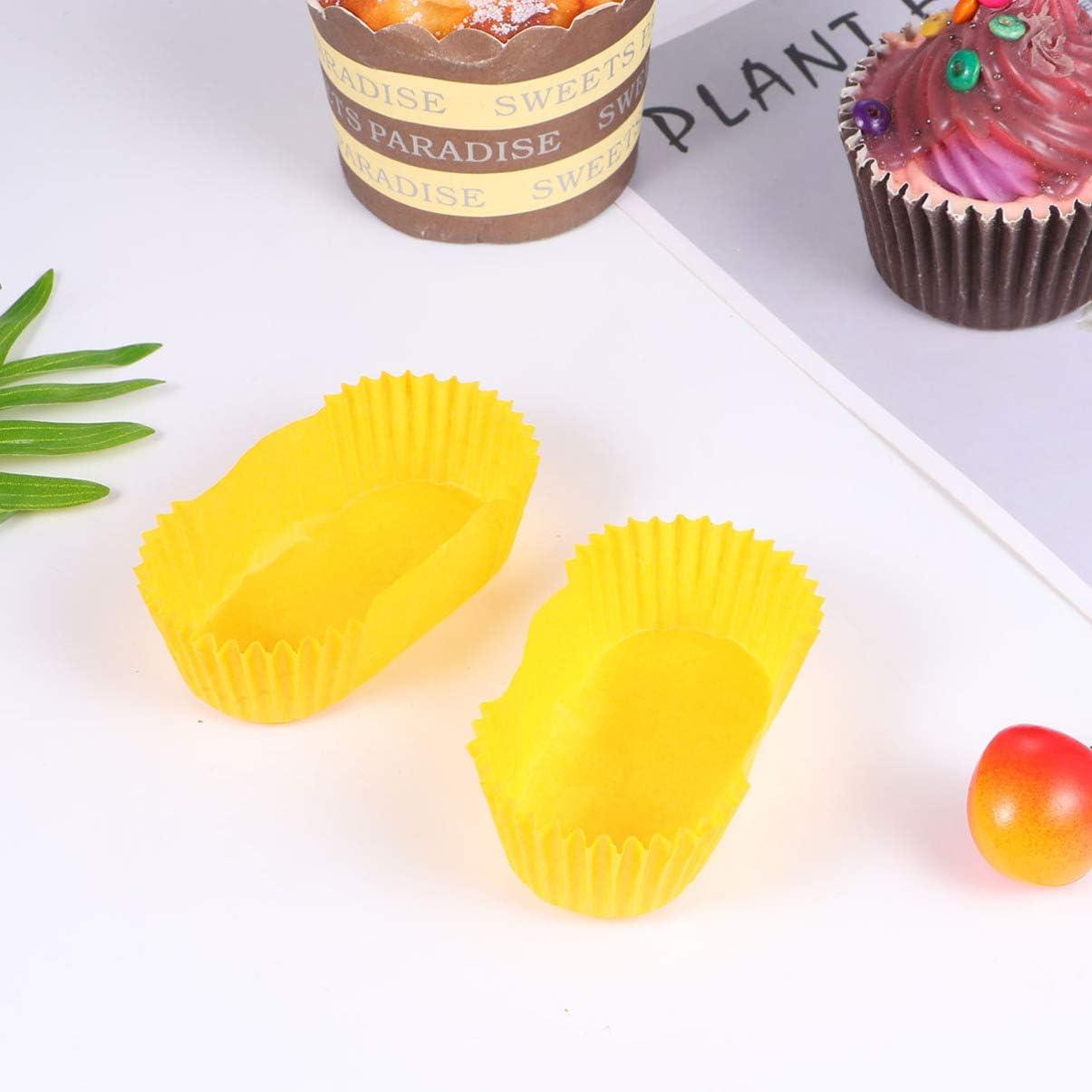 Cabilock 1000 Piezas Tazas de Papel para Hornear Rect/ángulos Desechables para Magdalenas Envolturas de Magdalenas a Prueba de Aceite para Bolas de Pastel Muffins Cupcakes Y Dulces Amarillo