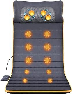 Shiatsu Back Massager with Heat - Gel Massage Nodes, Deep Kneading Massage Chair Pad Seat Massager Massage Cushion for for...