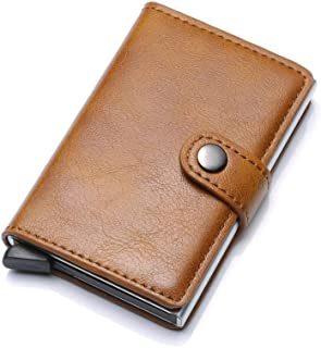 RFID Blocking Wallet Credit Card Holder Slim Wallet Leather Business Card Holder