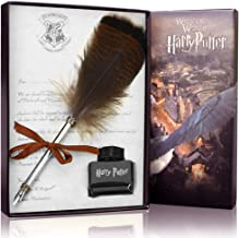 ECVISION Antique Dip Feather Pen Set Calligraphy Pen Set Writing Quill Ink Dip Pen (Quill-black)