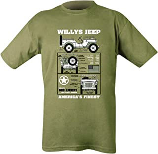Kombat UK Men's Willys Jeep T-Shirt