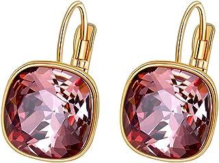 Xuping Jewelry Luxury Hoop Crystals Fashion Earrings