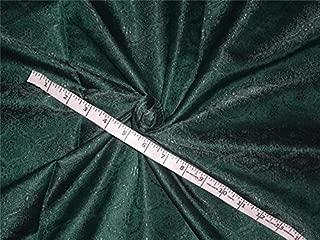 Seda y brocado tela verde pino color 44