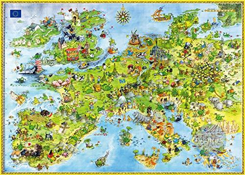 Europe Map Jigsaw Adult 1000 puzzels, familiepuzzels, houten puzzels, educatieve spellen, intellectuele uitdagingspuzzels, uitdagingsspellen