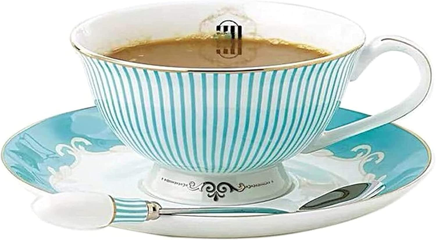 Cup Max 69% OFF Saucer Set Porcelain Tea Coffee for Afternoon Discount is also underway Breakfast