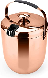 T-rainbow - Ice Bucket Insulated Double Walled Stainless Steel Buckets for Parties (Copper)