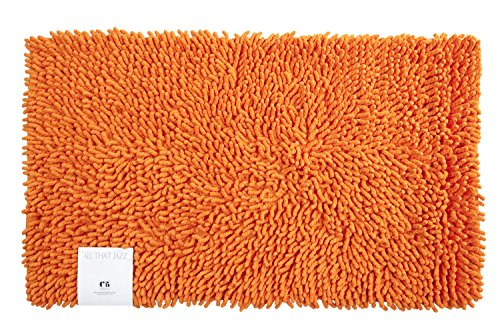 Creative Bath Products All That Jazz Bath Rug, Orange