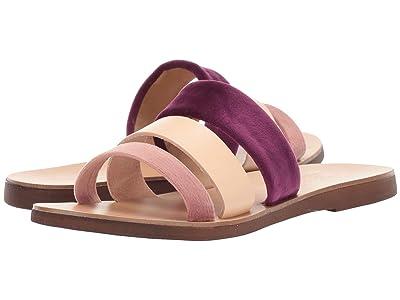 Massimo Matteo Multicolor 3 Band Sandal (Rosa/Chiaro) Women
