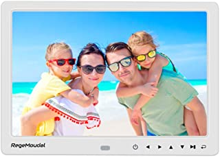 Digital Photo Frame,RegeMoudal 12 Inch Picture Frame with Remote Control 1080P High Definition, Support 32G SD and USB, Various Display Modes, for Pictures and Videos (White)