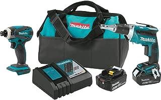 Makita XT311R 18V LXT 3 Pc Combo Kit W// 2.0 Ah Batteries
