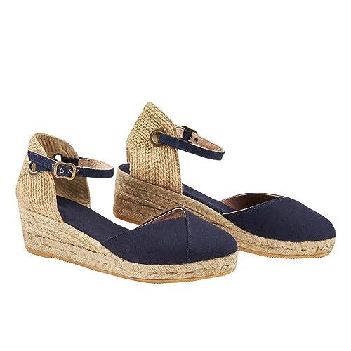 e0bfc97d5a32 Ermonn Womens Platform Wedge Sandals Closed Toe Lace Up Ankle Strap  Espadrille Sandals
