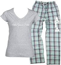 Alpha Gamma Delta Pajama Pants (Stitched Greek Letters) and Alpha Gamma Delta Shirt (2 Piece Pajama Set)