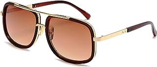 Eyerno Retro Aviator - anteojos de sol para hombre y mujer, diseño clásico cuadrado