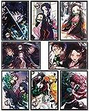 Japanese Anime Demon Slayer Poster Kamado Tanjirou Posters Wall Decor Art Print,Set of 8 pcs,11.5x16.5 inches