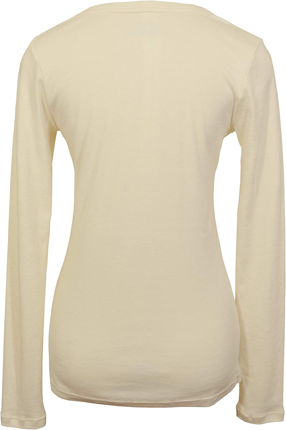 Ecoland Womens Organic Cotton Long Sleeve Fitted Crew Neck Tee Made in USA