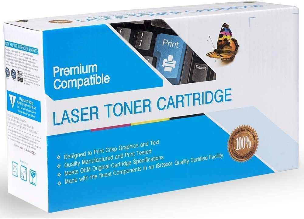 2 Pack of Replacement Supplies Wholesalers Black Toners Compatible with Laserjet Enterprise M4555F, Laserjet Enterprise M4555FSKM, Laserjet Enterprise M4555H, Laserjet M4555F, Laserjet M4555FSKM