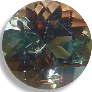 Natural Andalusite Salmon/Green Round Brilliant Loose Unset Gem (4mm)