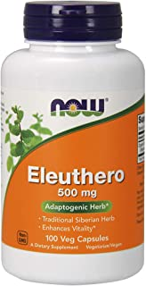 NOW Supplements, Eleuthero (Eleutherococcus senticosus)500 mg, 100 Veg Capsules