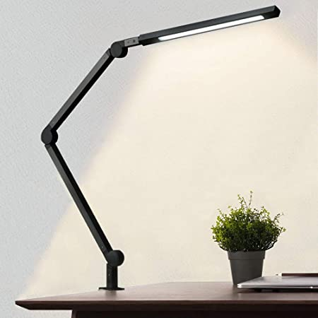 Amazon Com Phive Led Desk Lamp Architect Task Lamp Metal Swing Arm Dimmable Drafting Table Lamp With Clamp Touch Control Eye Care Technology Highly Adjustable Office Craft Studio Workbench Light Black Home Improvement
