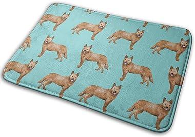 Australian Cattle Dog - Dog, Red Heeler, Dogs, Cute - Blue_26508 Doormat Entrance Mat Floor Mat Rug Indoor/Outdoor/Front Door