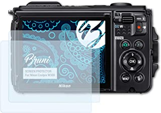 Bruni Pel/ícula Protectora para Nikon KeyMission 80 Protector Pel/ícula Claro L/ámina Protectora 2X