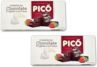 Picó - Pack incluye 2 Turrón de Chocolate trufado a la fresa -Calidad suprema 200gr