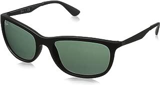 Ray-Ban RB4267 Square Sunglasses, Matte Black/Green, 59 mm