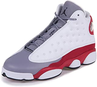 Nike Mens Air 13 Retro BG Grey Toe White/Black-Cement Grey-True Red Leather Basketball Shoes Size 4.5Y