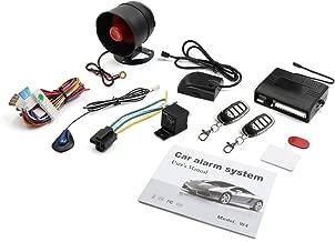 X AUTOHAUX Car Keyless Entry Security Alarm System 1 Way Vehicle Anti-theft Siren W 2 Remote 12V