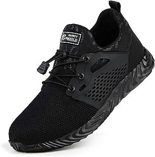 TQGOLD Chaussures de sécurité Homme Femme Chaussures de Travail Basket de Securite avec Embout Acier Protection Respirante...