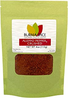 Aleppo Pepper : Crushed Red Pepper Flakes : Middle Eastern Spice for Mediterranean Cuisine : Kosher Certified (8oz) : The most famous Syrian Spice