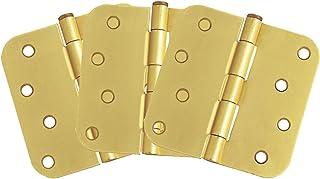 """Design House 181578 3-Pack Hinge 4"""", Satin Brass"""