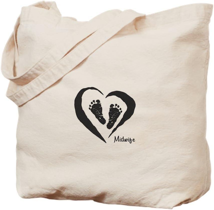 CafePress Midwife Tote Bag Natural Canvas Tote Bag, Reusable Shopping Bag