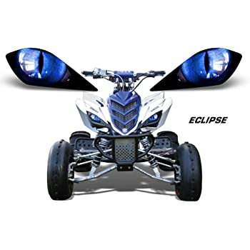 Surge Blue Graphics Kit with blank number plates WITH EXTRA COVERAGE Senge Graphics Kit compatible with Yamaha 2013-2020 Raptor 700