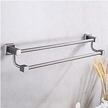 Dubbele badkamer handdoekhouder roestvrijstalen handdoek hanger rack wandgemonteerde hoek kleding rail handdoek bar toilet...