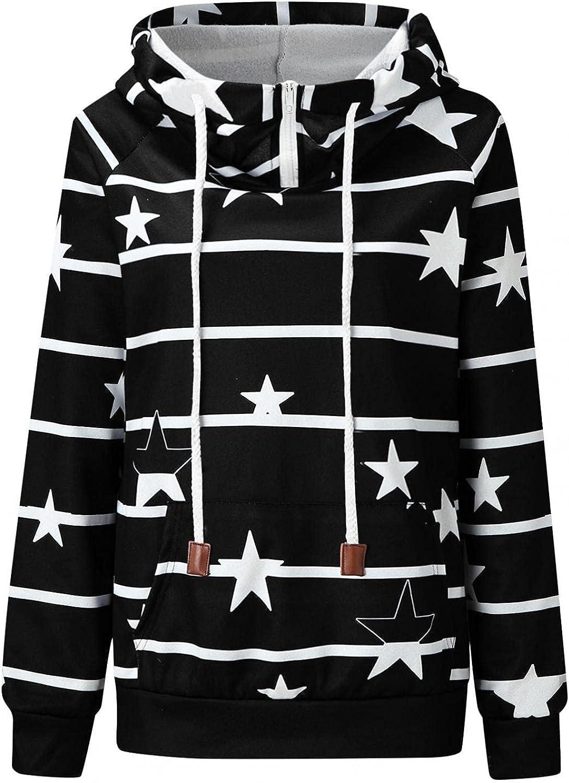 Womens Hoodies,Women's Winter Cowl Neck Pullover Sweatshirts Casual Long Sleeve Hoodies Fashion Drawstring Hooded
