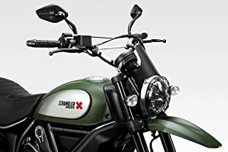 Ducati Scrambler 800 - Kit Windscreen 'DarkLight' (D-0210) - Aluminum Windshield Fairing - Easy to Install - De Pretto Moto Accessories (DPM Race) - 100% Made in Italy