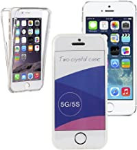 iPhone 5 5S Case, KAWOO Slim 360-degree Protective Shockproof Front and Back Full Body Tpu Silicone Gel Case Cover For iPhone 5 5S