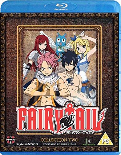 Fairy Tail Collection Two (Episodes 25-48) Blu-Ray [Edizione: Regno Unito] [Import]
