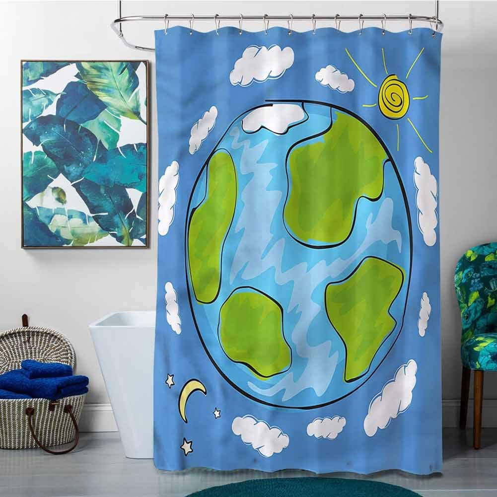 SKDSArts Phoenix Mall Shower Curtains Detroit Mall Rings Earth W60 Kids Planet of Drawing