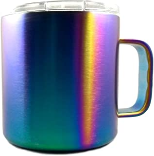 Great Spirit Wares Vacuum Insulated Travel Mug 16 Ounce, Iridescent Rainbow Colorful Stainless Steel Shatterproof BPA-Free, Lid Included