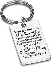 CJ&M Husband Keychain When I Tell You I Love You Husband Gift Boyfriend Gift,Wife Gift,Dad Gift, Men Gift