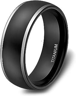 خواتم تيتانيوم 4 و6 و8 ملم للرجال والنساء بقبة سوداء من سومن تنغستن، خاتم زفاف بولندي عالي اللمعان بلونين مقاس 4-13.5